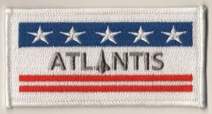 NASA Space Shuttle Atlantis (OV-104) Embroidered Flag Patch